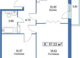 - фото. Купить двухкомнатную квартиру без посредников, Мурино, улица Шувалова, 42 - фото.